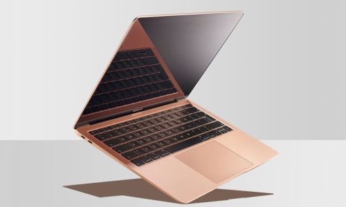 An apple laptop